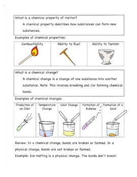 Chemical & Physical Changes: Notes  Re-3