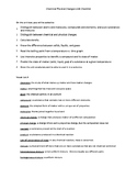 Chemical Physical Changes Unit Checklist