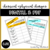 Chemical & Physical Changes **DIGITAL & PDF** (Halloween &