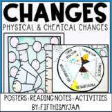 Chemical & Physical Changes and Chemical Reactions Notes & Activity Pack
