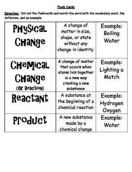 Chemical & Physical Changes in Science