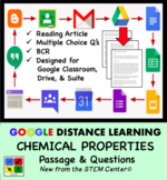 Chemical Properties Google Doc - Article & Questions - Distance Learning