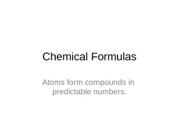 Chemical Formulas Power Point