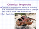 Chemical Properties and Chemical Changes