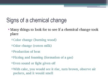 Chemical Properties changes powerpoint presenation