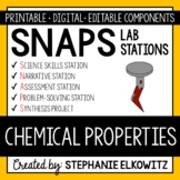 Chemical Properties of Matter Lab Stations Activity - Printable & Digital