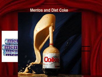 Chemical Reaction Between Diet Coke Amp Mentos Lesson Ppt