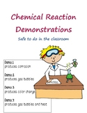 Chemical Reaction Demonstrations - 4 Demos Safe for the Classroom