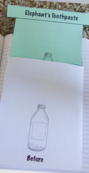 Chemical Reaction Elephant's Toothpaste Lab With Interactive Notebook Flaps