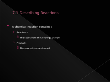 Chemical Reaction Notes