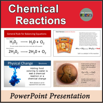Chemical Reaction PowerPoint for Physical Science Curriculum