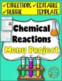 Chemical Reactions Restaurant Menu Project Activity