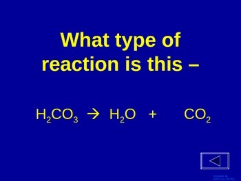 Chemical Reactions - Jeopardy Review