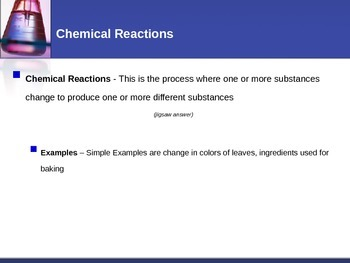 Chemical Reactions - Chemical Reactions