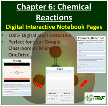Chemical Reactions - Digital Interactive Notebook Pages