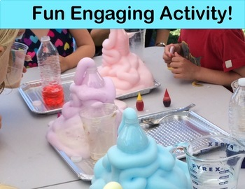 Chemical Reactions Elephant's Toothpaste Experiment For Grades 6 through 8