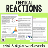 Chemical Reactions - Reading & Questions
