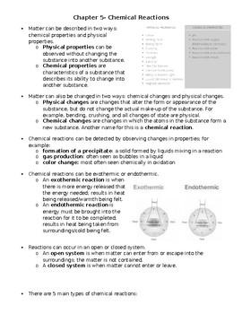 Chemical Reactions Handout