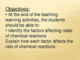 Chemical Reactions - Lesson Plan