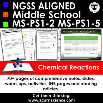 Middle School NGSS Physical and Chemical Changes  MS-PS1-2 Aligned Pack
