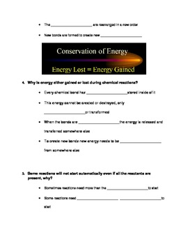 Chemical Reactions ModifiedStudy Guide