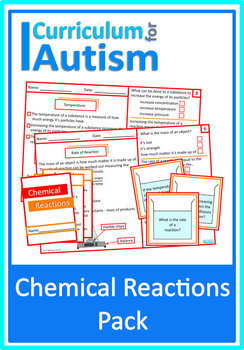 Chemical Reactions Science Worksheets, Task Cards & Mini B