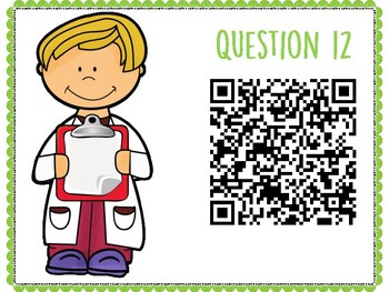 Chemical Reactions QR Code Hunt (Content Review or Notebook Quiz)
