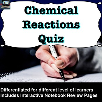 Chemical Reactions Quiz