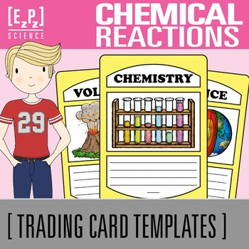 Chemical Reactions Science Trading Cards