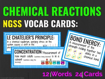 Chemical Reactions Vocab Cards (NGSS)