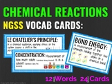 Chemical Reactions Posters Vocabulary Cards (NGSS)