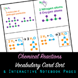 Chemical Reactions Vocabulary Card Sort and Interactive No