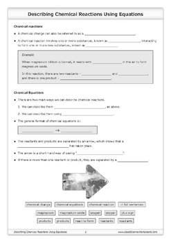 Chemical Reactions [Worksheet Bundle]