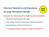 Chemical Reactions and Equations [Worksheet Bundle]