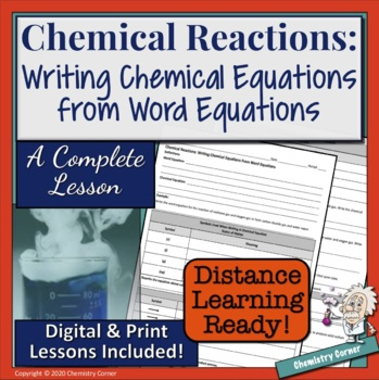 Chemical Reactions: Writing Chemical Equations from Word Equations