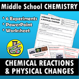 Chemical Reactions and Physical Changes PPT and worksheet