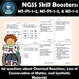 Chemical Reactions and Synthetic Materials Task Cards NGSS