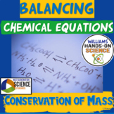 Chemical Reactions Simulation Conservation of Mass Close Reading Cloze Notes