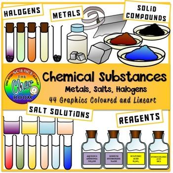 Chemical Substances Clipart (Chemical Reactions)