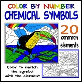 Chemical Symbols: Color By Number