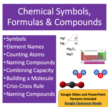 Chemical Symbols, Formulas and Compounds -Chemistry Power