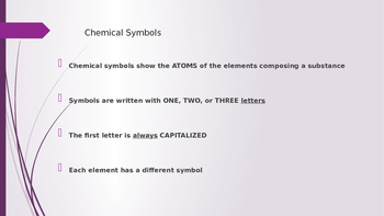 Chemical Symbols and Formulas