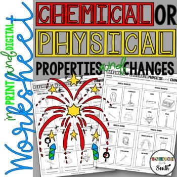 Chemical vs physical properties worksheet