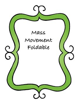 Mass movement Foldable