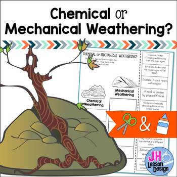 Chemical Weathering or Mechanical Weathering?  Cut and Paste Sorting Activity