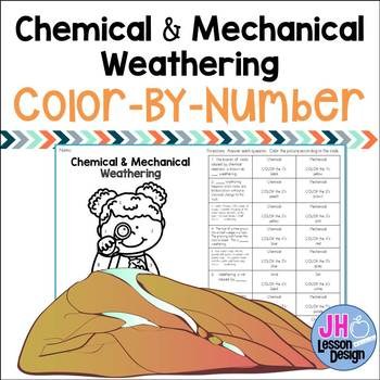 Chemical and Mechanical Weathering: Color-By-Number