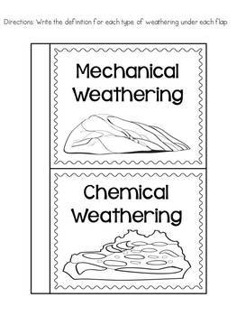 Chemical and Mechanical Weathering: Passages and Interactive Notebook Activity