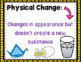 Chemical and Physical Changes Anchor Chart Posters