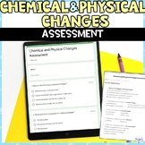 Chemical and Physical Changes Quiz or Test