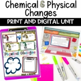 Chemical and Physical Changes Unit of Digital, Printable a